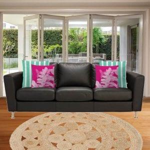 Lauren Skye Studio Living room mockup custom cushion cover design