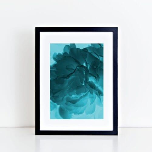 Blue Ghost Peony Art Print - Lauren Skye Studio