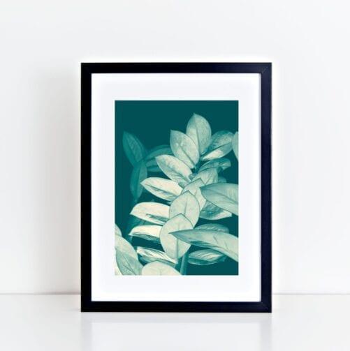 Turquoise Zee Zee Art Print - Lauren Skye Studio
