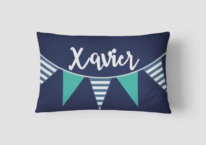 Bunting personalised name cushion