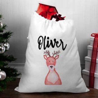 Personalised Santa Sack - Reindeer