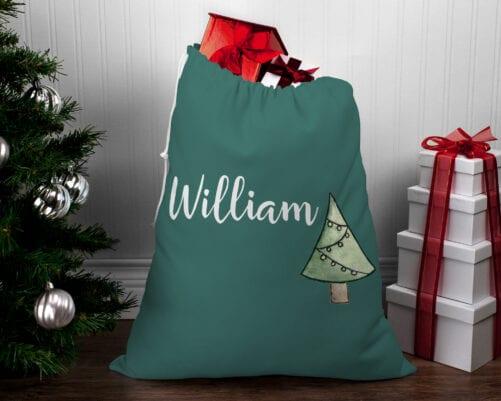 Personalised Santa Sack - Christmas Tree