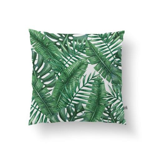 Tropical Palm print green