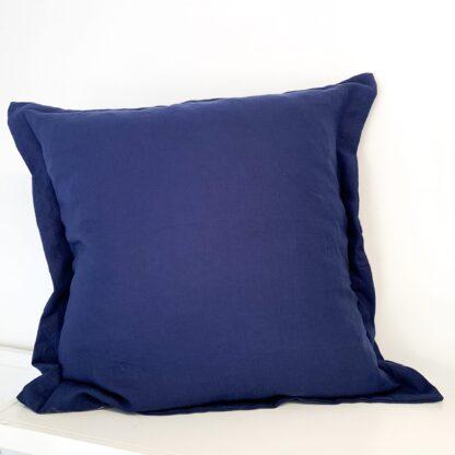 Navy Linen Euro Cushion