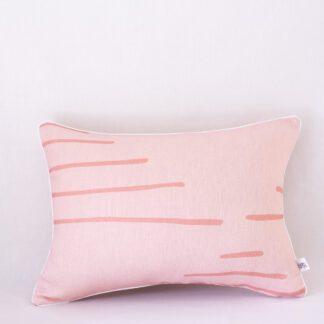 Blush Horizon Linen Cushion