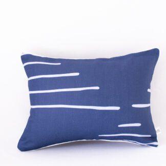 Navy Horizon Linen Cushion