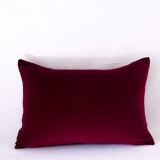 Crimson Cotton Velvet Cushion