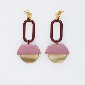 Visor Earrings - Lilac/Plum