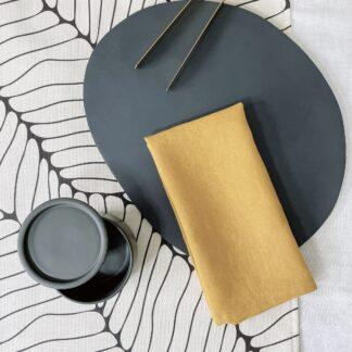 Mustard French Linen Napkin