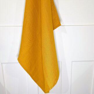 Mustard French Linen Teatowel