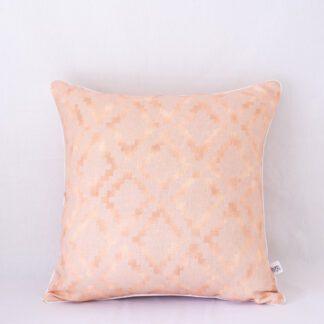 Pink Salt Aztec Shimmer Linen Cushion