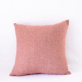 Rust Textured Herringbone Cushion