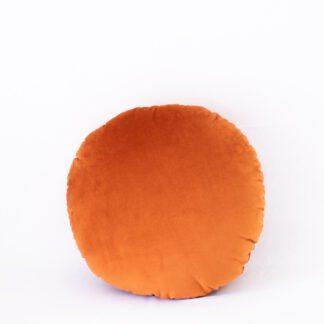 Rust Velvet Round Cushion