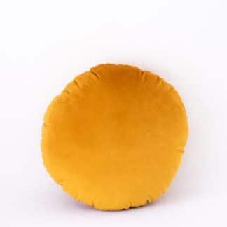 Mustard Velvet Round Cushion