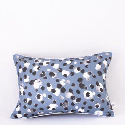 Slate Blue Inkspot Midi Cushion